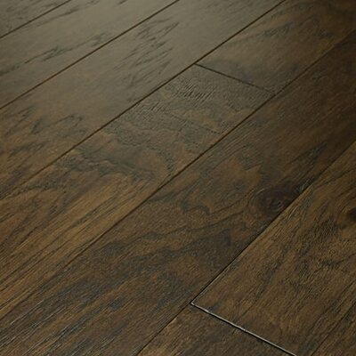 "Shaw Floors Brushed Suede 5"" Engineered Hickory Flooring in Bison"