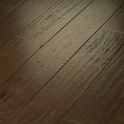 "Shaw Floors Epic Pebble Hill 5"" Engineered Hickory Flooring in Weathered Saddle"