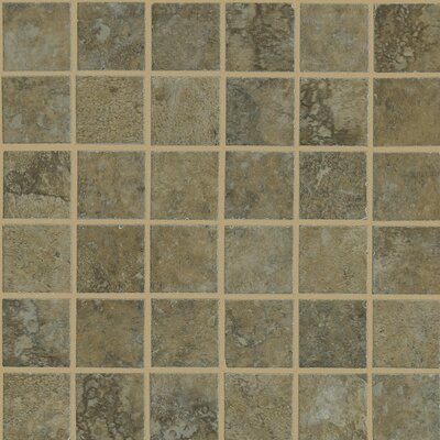 "Shaw Floors Lunar 12"" x 12"" Mosaic Tile Accent in Walnut"