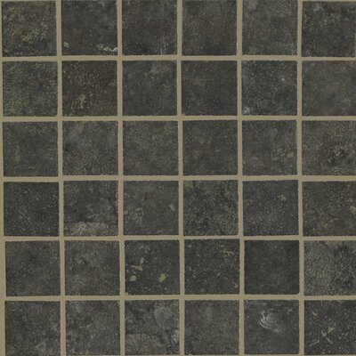 Lunar Mosaic Tile Accent in Graphite