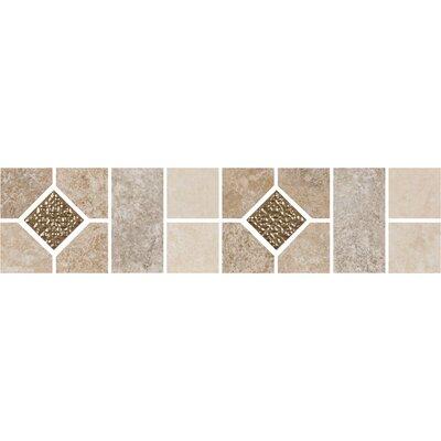 Shaw Floors Padova 12 X 3 Decorative Floor Border Tile In Multi