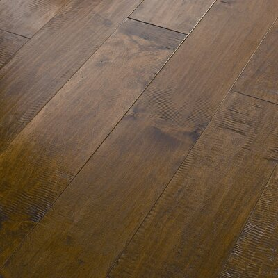 "Shaw Floors Acadian Heights 6-3/8"" Engineered Handscraped Maple Flooring in Sand Point"