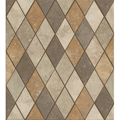 Soho Rhomboid Tile Accent in Multi-color