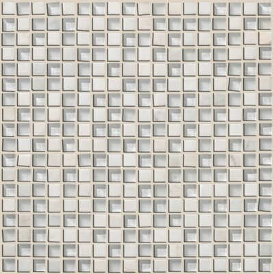"Shaw Floors Mixed Up 12"" x 12"" Mosaic Stone Accent Tile in Snow Peak"