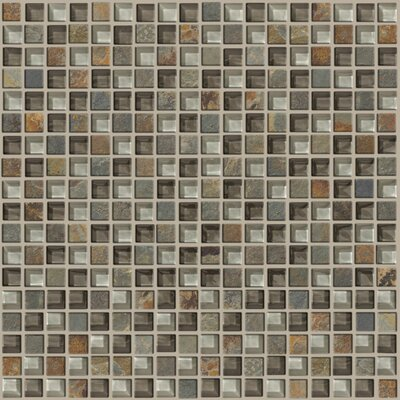 "Shaw Floors Mixed Up 12"" x 12"" Mosaic Slate Accent Tile in Pikes Peak"