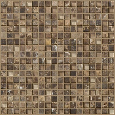 "Shaw Floors Mixed Up 12"" x 12"" Mosaic Marble Accent Tile in Dakota"