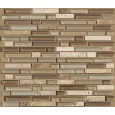 Shaw Floors Mixed Up Random Sized Linear Mosaic Stone Accent Tile in Canyon