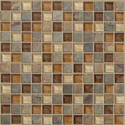 Shaw Floors Mixed Up Mosaic Slate Accent Tile in Crested Butter
