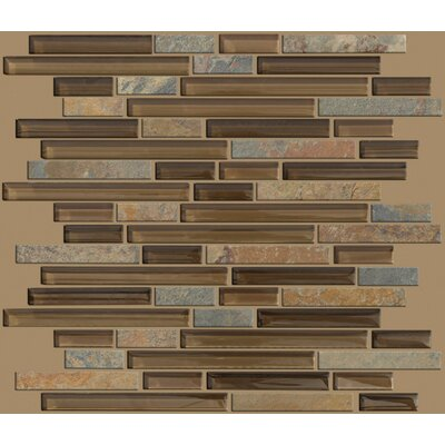 Shaw Floors Mixed Up Random Sized Linear Mosaic Slate Accent Tile in Piedmont