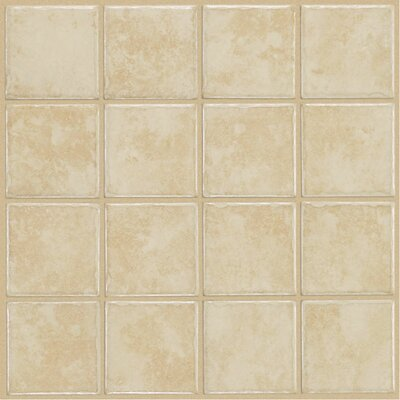 "Shaw Floors Colonnade 12"" x 12"" Ceramic Floor Tile in White"