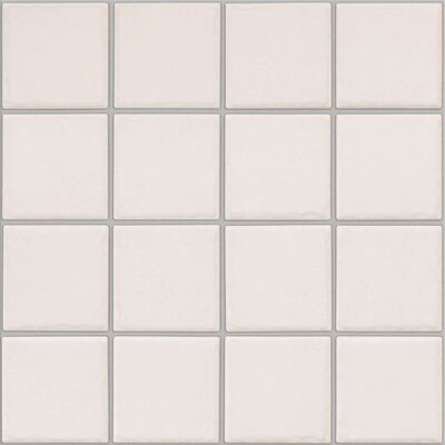 "Shaw Floors Colonnade 3"" x 3"" Ceramic Mosaic Floor Tile in Plain White"