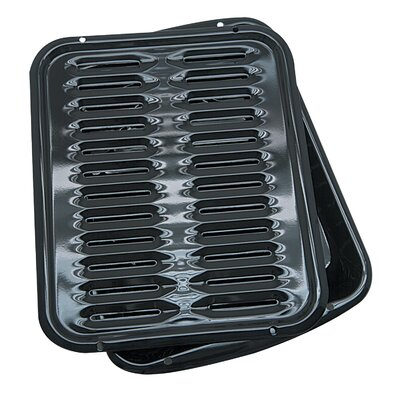 Range Kleen 2 Piece Porcelain Broiler Pan with Grill Set