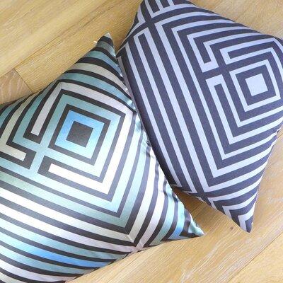 NECTARmodern Maze Graphic Stripes Throw Pillow