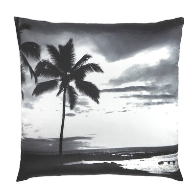 Tropic Hawaii Palm Tree Printed Throw Pillow
