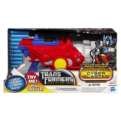 Hasbro Transformer Dark of The Moon Robo Power Optimus Prime Cyber Blaster Toy