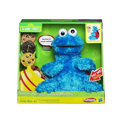 Hasbro Sesame Street Playskool Count'N Crunch Cookie Monster Figure