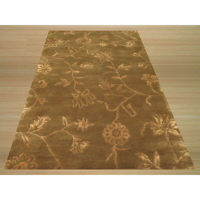 Brown / Gold Floral Rug