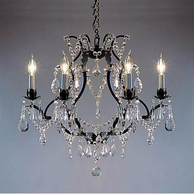 Majesty 6 Light Crystal Chandelier