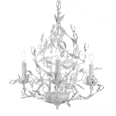 Majesty 3 Light Crystal Chandelier