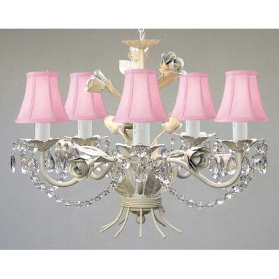 Garden 5 Light Crystal Chandelier