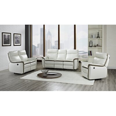 CREATIVE FURNITURE Savannah Leather Reclining Loveseat