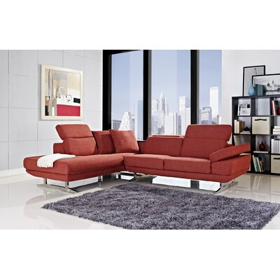 Layla Left Facing Chaise Sectional Sofa