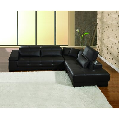 Bella Right Facing Chaise Sectional Sofa