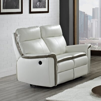 Savannah Leather Reclining Loveseat