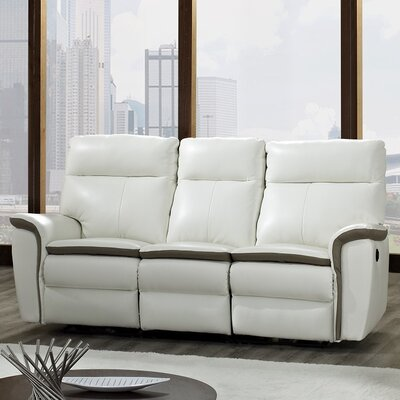 CREATIVE FURNITURE Savannah Leather Reclining Sofa
