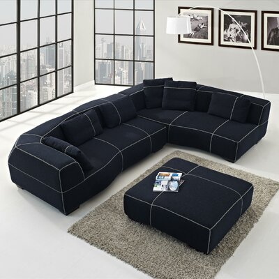 Tina Left Facing Chaise Sectional Sofa