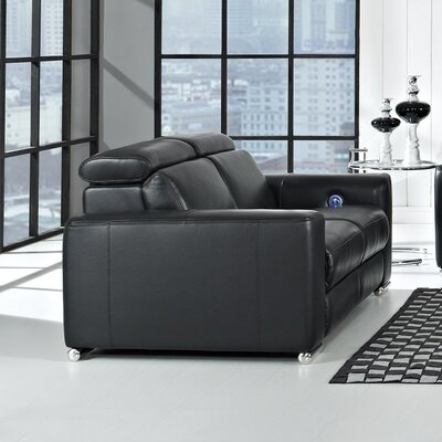 CREATIVE FURNITURE Delux Leather Reclining Loveseat