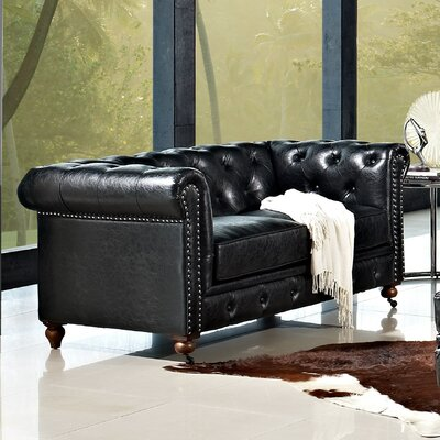 Emily Leather Loveseat