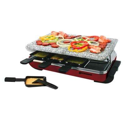 Swissmar 8 Person Classic Raclette Party Grill with Granite Stone