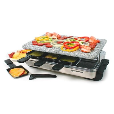 8 Person Stelvio Raclette Party Grill with Granite Stone