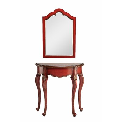 Gladbeck Console Table and Mirror Set