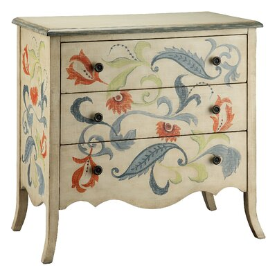 Painted Treasures 3 Drawer Accent Chest