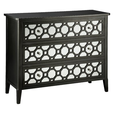 Cosmopolitan Mirror Front Accent 3 Drawer Chest