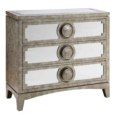 Stein World Carlton Mirrored 3 Drawer Cabinet