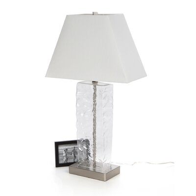 Stein World Mottled Glass and Steel Table Lamp