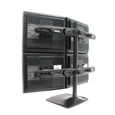 Ergotron Desk Stand 100 Quad Monitor- Vertical