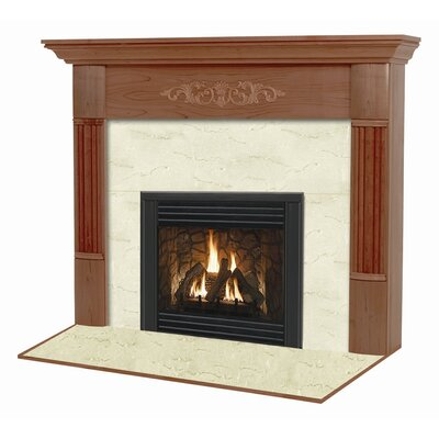 Hearth and Home Mantels Deluxe Flush Fireplace Mantel Surround
