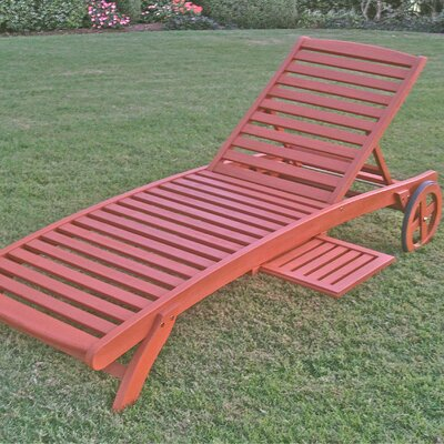 International Caravan International Caravan Royal Tahiti 5-Postion Balau Wood Patio Chaise Lounge
