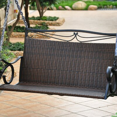Valencia Wicker Resin Porch Swing