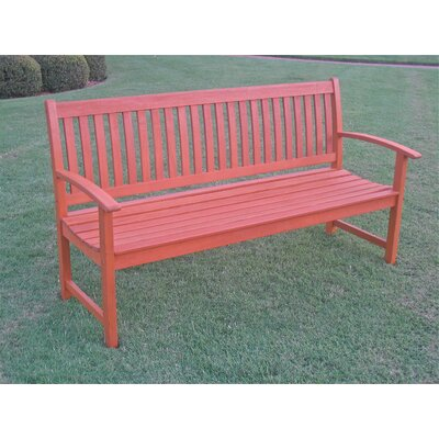 International Caravan Corwin Wood Garden Bench