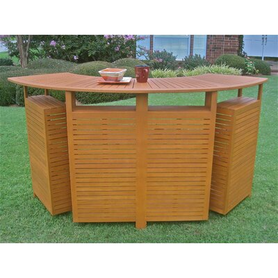 International Caravan Chatham Outdoor Patio Sectional Folding Bar Table