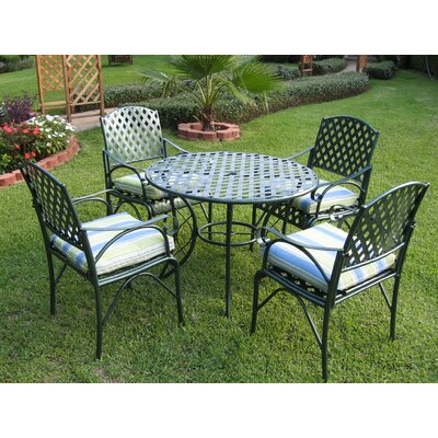 International Caravan Diamond Lattice 5 Piece Dining Set