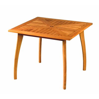 International Caravan International Caravan Royal Tahiti Wood Patio Bistro Table