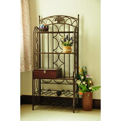 International Caravan Venice Iron Five Tier Baker's Wine Rack