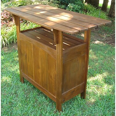 international caravan highland acacia patio wood bar table