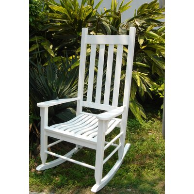 International Caravan Wooden Patio Rocking Chair